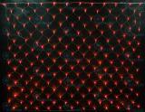 Светодиодная сетка Rich LED 2*3 м, цвет: красный. Прозрачный провод.