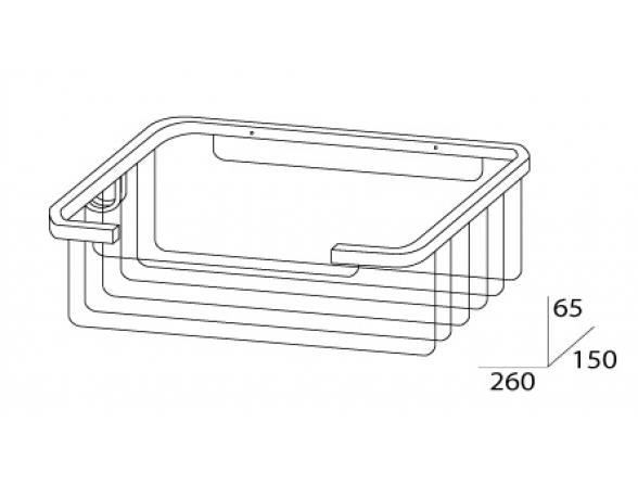 Полочка-решетка глубокая FBS RYNA RYN 022