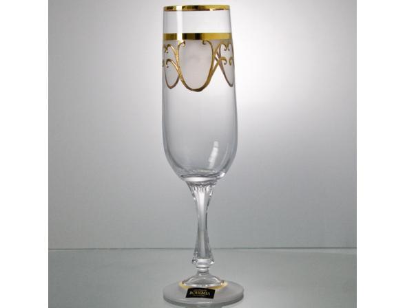 Набор бокалов для шампанского Bohemia Crystall Бетти/24265K/190/