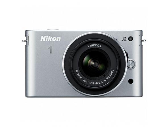 Цифровой фотоаппарат Nikon 1 J2 kit 10–30mm VR Silver