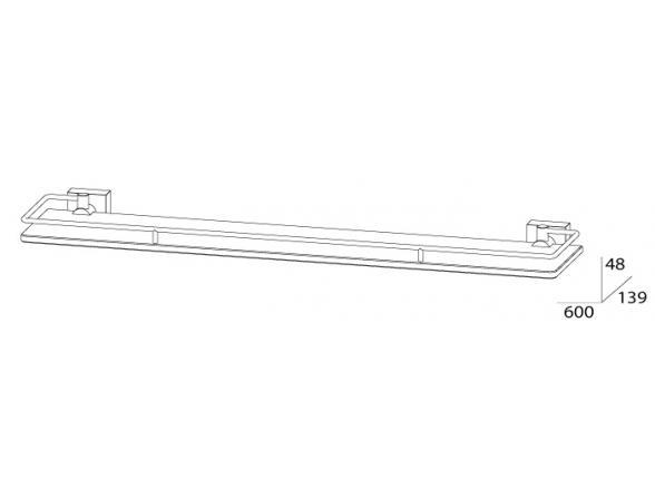 Полка с ограничителем FBS ESPERADO 60 см ESP 016