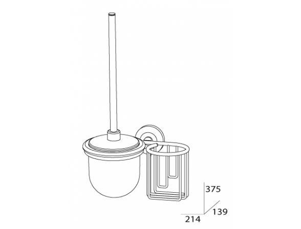 Комплект для туалета с держателем освежителя FBS STANDARD STA 059