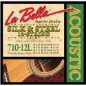 Струны для 12-ти струнной гитары LA BELLA 710-12L
