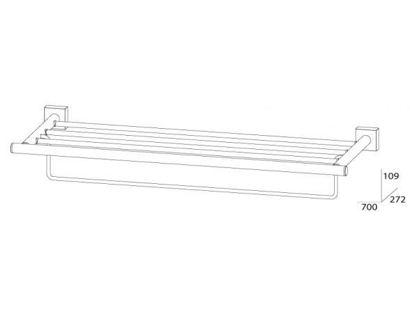 Полка для полотенец с нижним держателем FBS ESPERADO 70 см ESP 043