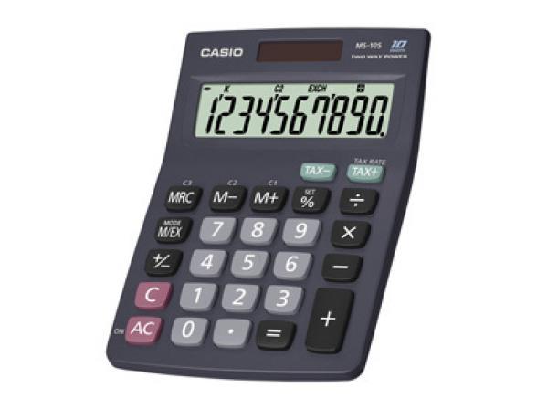 Калькулятор компактный настольный Casio casMS-10S