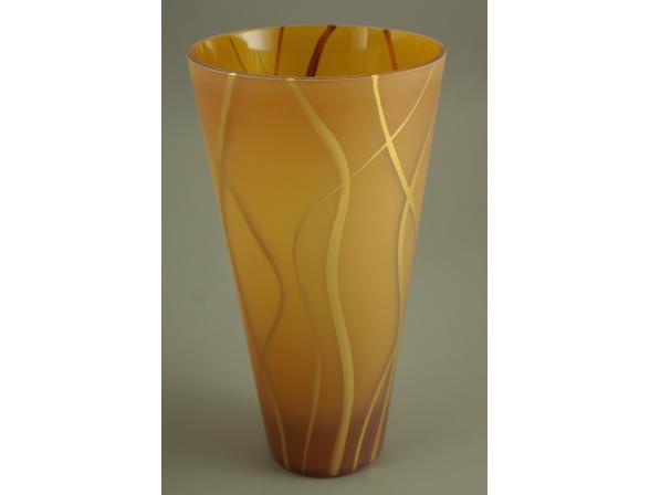 Ваза Crystal Art 27 см, 60031AG (янтарь)