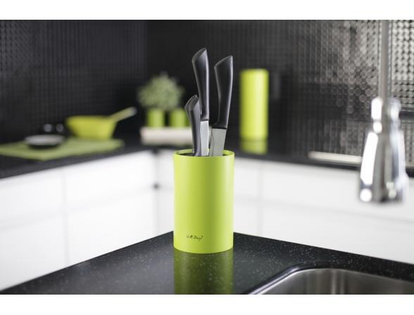 Подставка для ножей Vialli Design универсальная, зеленая