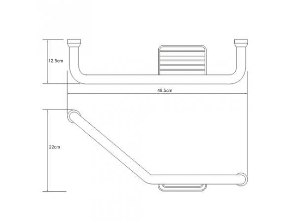 Поручень для ванны WasserKRAFT с мыльницей К-1077