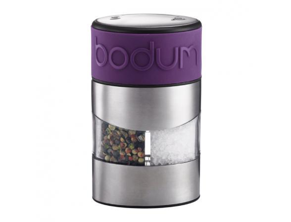 Мельница для соли и перца BODUM Twin фиолетовая