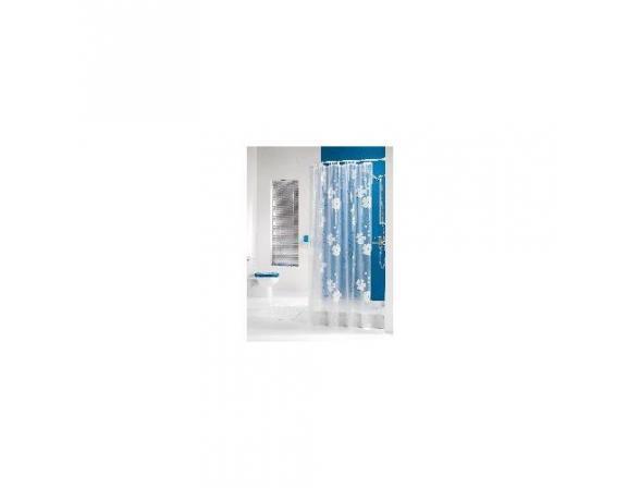 Шторка SEALSKIN Blomma 180х200, винил, прозрачный/белый (210771310)
