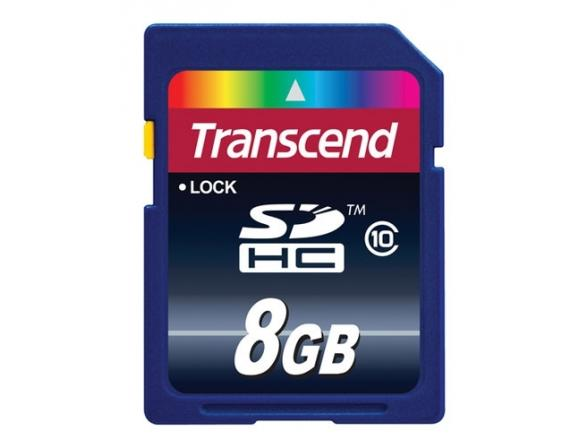 Флэш память Transcend 8Gb SDHC Card Class 10