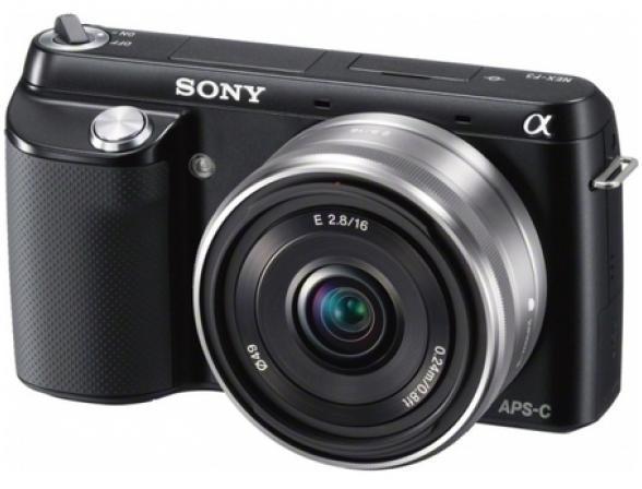 Цифровой фотоаппарат Sony Alpha NEX-F3A Kit 16mm black*