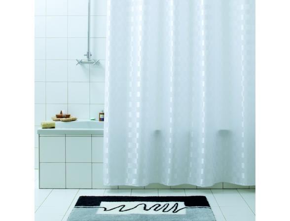Штора для ванной Bacchetta 180х200 Quadretto белая