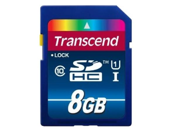Флэш память Transcend 8Gb SDHC Card Class 10 UHS-I SDU1