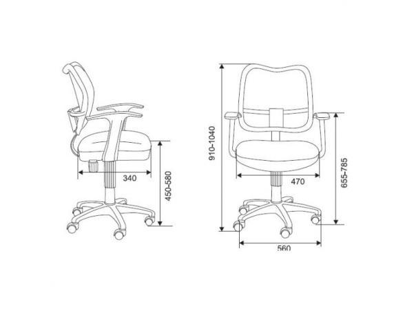 Кресло BURO CH-W797/BL/TW-10