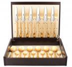 Набор столовых приборов CUTIPOL CARRE GOLD 24 пр. 9132 мат.