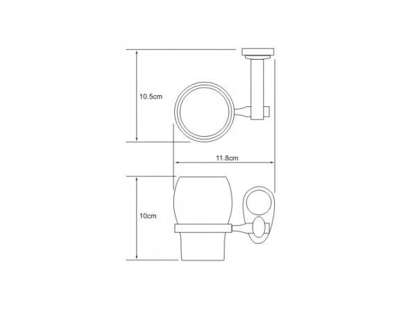 Подстаканник WasserKRAFT Main одинарный К-9228C, керамика