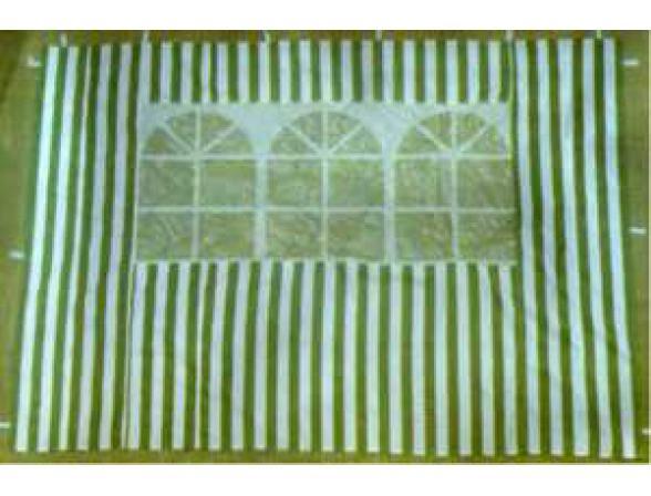 Стенка с окном для садового тента Green Glade 4110