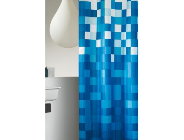 Шторка SEALSKIN Pixel синий 180х200см (232651324)