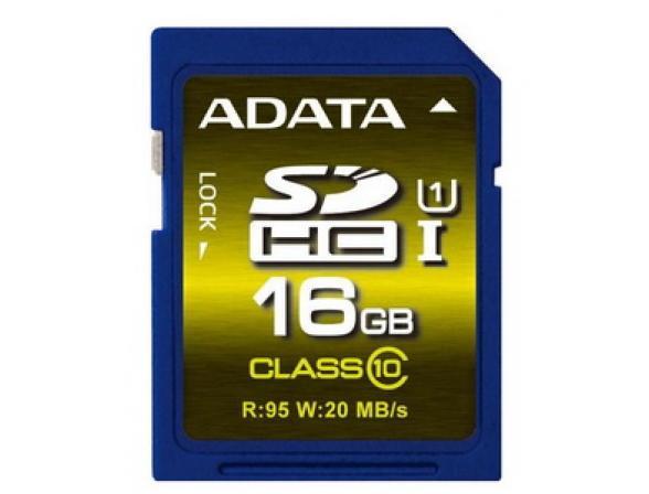 Флэш память ADATA 16GB SDHC Card Class 10 UHS-I Premium Pro
