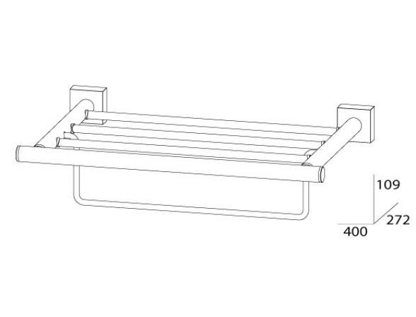 Полка для полотенец с нижним держателем FBS ESPERADO 40 см ESP 040