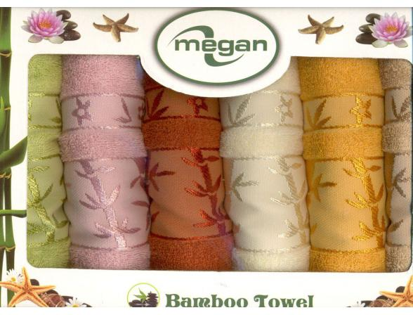 Комплект полотенец ARYA Megan 50х90 70х140 Бамбук 2 пр.