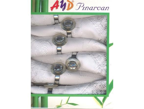 Набор салфеток AYD Бамбуковые 35х35 6 пр. с кольцами