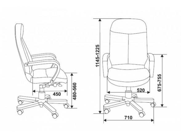 Кресло руководителя BURO 721/B