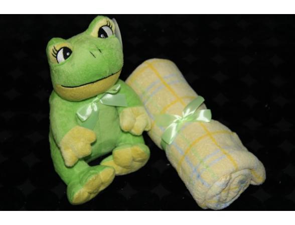 Плед с игрушками ARYA Frog
