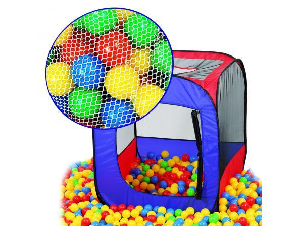 Палатка игровая+100 шаров EDU-PLAY 4-угольный складывающийся каркас с тентом