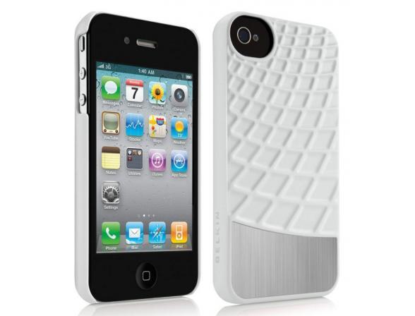 Чехол BELKIN Waffle для iPhone 4S белый