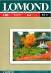 Бумага Lomond A4/240г/м2/50л. глянцевая для струйной печати (0102135)