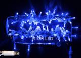 Светодиодная гирлянда Rich LED 10 м, 220В, мерцающая, с герметичным колпачком, цвет синий.