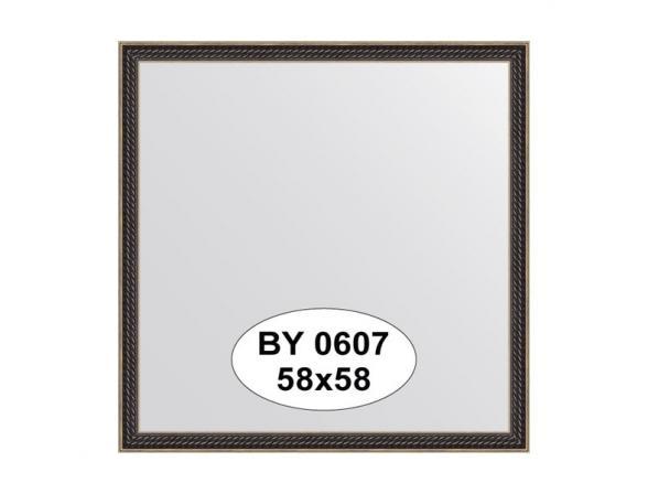 Зеркало в багетной раме EVOFORM витой махагон (58х58 см) BY 0607