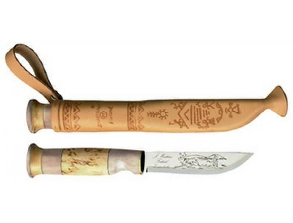 Нож рыбака Marttiini Lapp Knife With Horn Bone