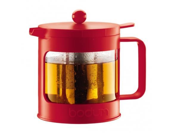 Чайник заварочный c прессом BODUM Bean 1.0л красный