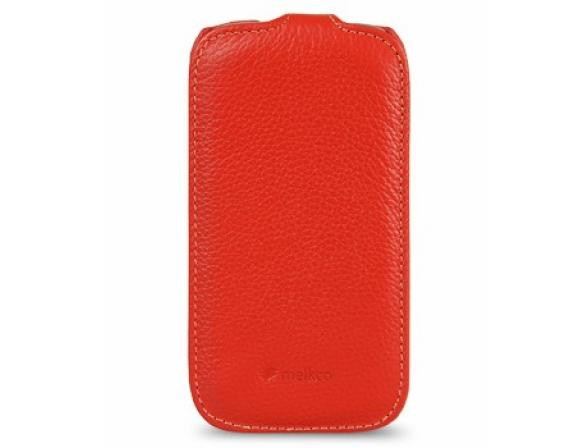 Melkco Premium Leather Case for Samsung Galaxy S3 Mini i8190 - Jacka Type (Red LC)