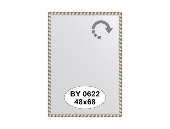 Зеркало в багетной раме EVOFORM витое серебро (48х68 см) BY 0622