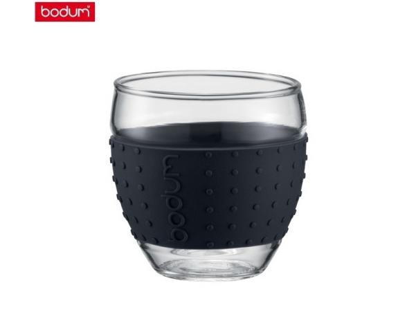 Набор бокалов BODUM 2 шт. Pavina 0.35л черный