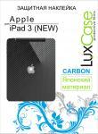 Защитная пленка для планшетов Lux Case Apple iPad 2/3/4, Back Карбон (черный)