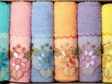 Комплект полотенец FAKILI хлопок с вышивкой MARGARIT Грек