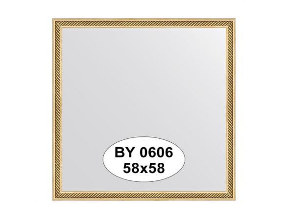Зеркало в багетной раме EVOFORM витое золото (58х58 см) BY 0606