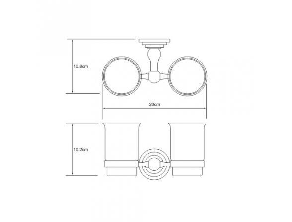 Подстаканник WasserKRAFT Ammer двойной К-7028D