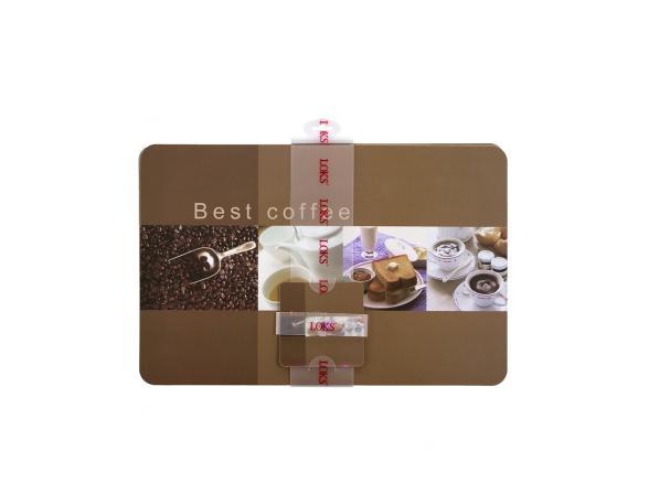 Набор салфеток для сервировки стола LOKS (6+6) 28x43 / 10x10