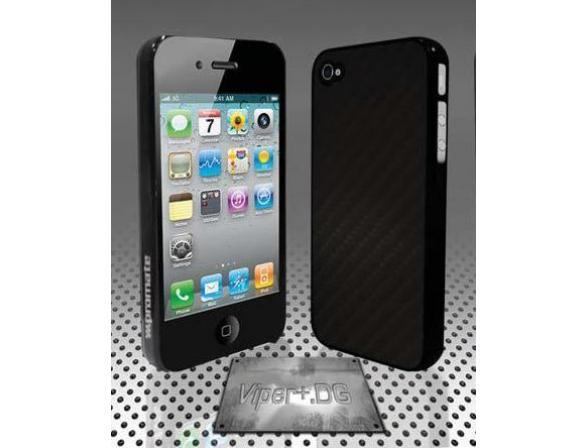 Защитный карбоновый чехол Promate для iPhone 4 (Viper+.DG) черный
