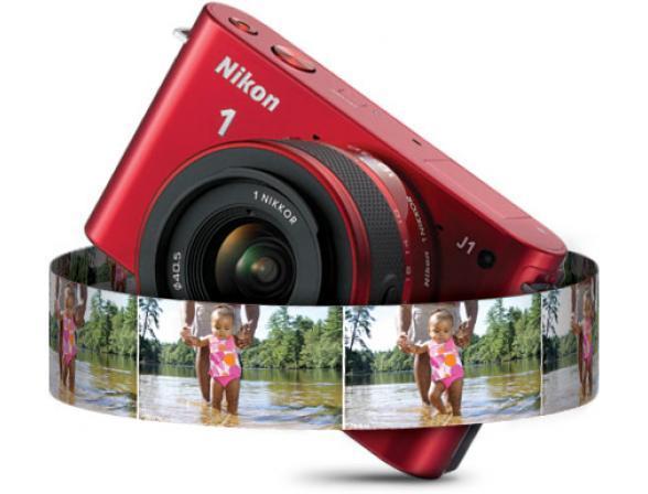 Цифровой фотоаппарат Nikon 1 J1 RD Kit + 10-30mm VR