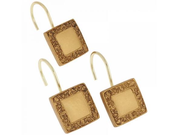 Набор из 12 крючков для шторки CARNATION Lakewood Gold