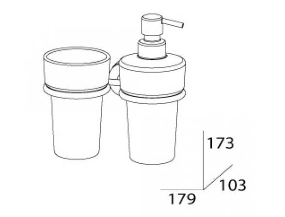 Держатель стакана и дозатора для жидкого мыла FBS NOSTALGY NOS 008