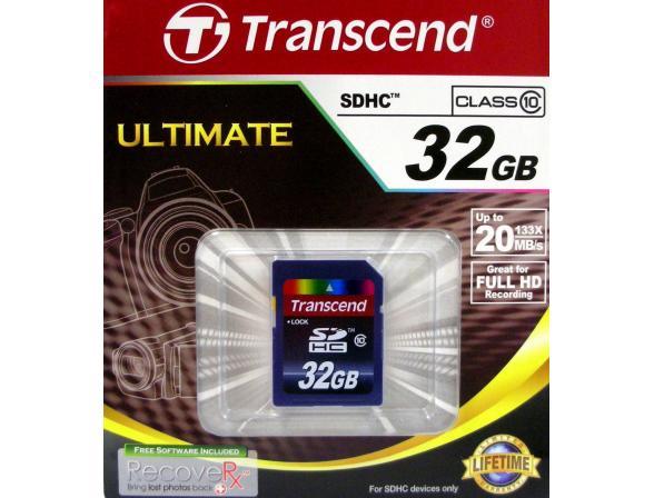 Флэш память Transcend 32Gb SDHC Card Class 10