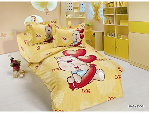 Постельное белье  для новорожденных ARYA Сатин печатное BABY DOG 100x150